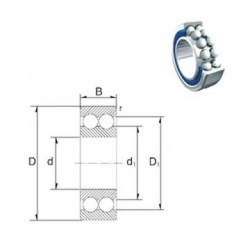 17 mm x 40 mm x 17,5 mm  ZEN 5203-2RS angular contact ball bearings