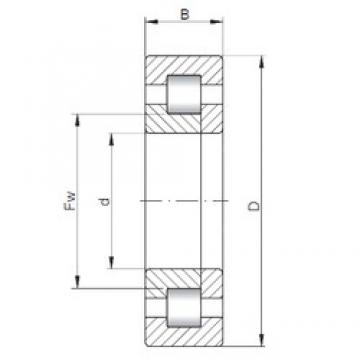 45 mm x 100 mm x 39,7 mm  ISO NUP3309 cylindrical roller bearings